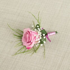 PURPLE ROSE BUTTONHOLE