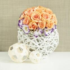 ORANGE ROSES WEDDING CENTREPIECE