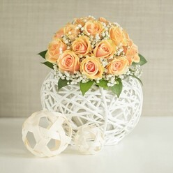 ORANGE ROSES WEDDING ARRANGEMENT